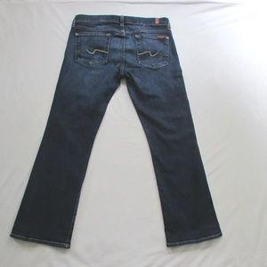 7 For All Mankind Jeans - 7 For All Mankind Crop Flare Stretch Jeans Size 30
